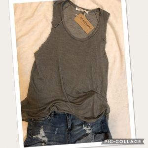 Project Social T distressed tank top